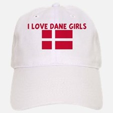 I LOVE DANE GIRLS Baseball Baseball Cap