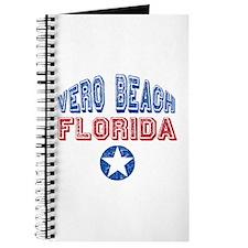 Vero Beach Florida Patriotic Distressed Journal