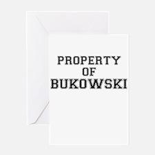 Property of BUKOWSKI Greeting Cards