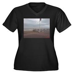 Cold Coast Women's Plus Size V-Neck Dark T-Shirt