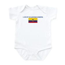 I LOVE MY ECUADORIAN GRANDMA Infant Bodysuit