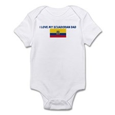 I LOVE MY ECUADORIAN DAD Infant Bodysuit