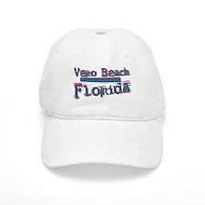 Vero Beach Florida Vintage Art Baseball Cap