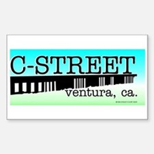 C Street Rectangle Decal