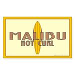 Malibu Hot Curl Rectangle Sticker