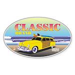 Classic Caddie.Oval Sticker