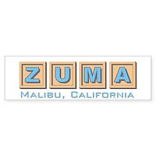 Zuma Malibu CA Bumper Bumper Sticker