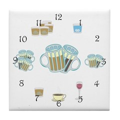Drinking All Day Tile Coaster