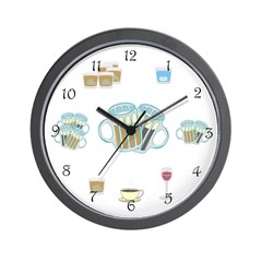Drinking All Day Wall Clock