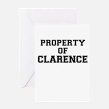 Property of CLARENCE Greeting Cards