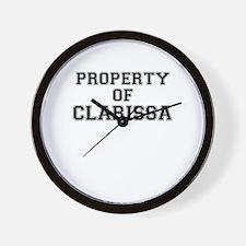 Property of CLARISSA Wall Clock