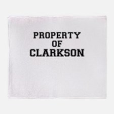 Property of CLARKSON Throw Blanket