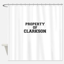 Property of CLARKSON Shower Curtain