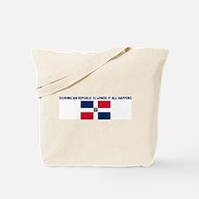 DOMINICAN REPUBLIC IS WHERE I Tote Bag
