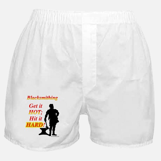 Get it hot Hit it hard Boxer Shorts