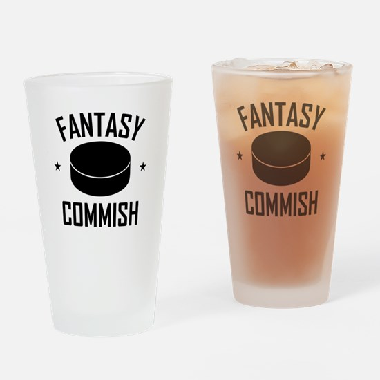 Fantasy Hockey Commish Drinking Glass