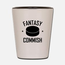 Fantasy Hockey Commish Shot Glass