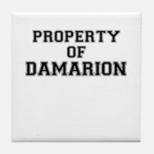 Property of DAMARION Tile Coaster