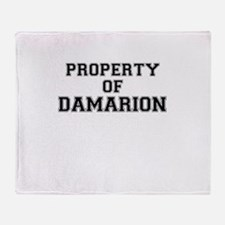 Property of DAMARION Throw Blanket