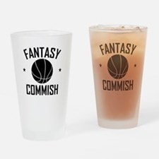 Fantasy Basketball Commish Drinking Glass