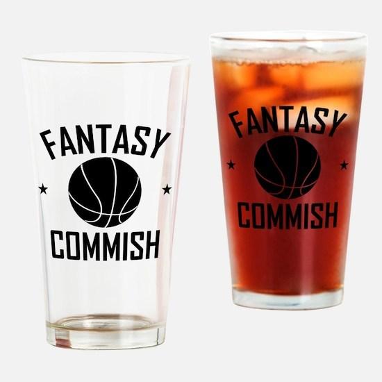 Fantasy Basketball Commish Drinking Glass