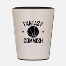 Fantasy Basketball Commish Shot Glass