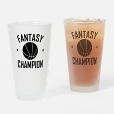 Fantasy Basketball Champion Drinking Glass