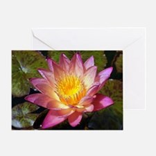 Cute Pink lotus Greeting Card