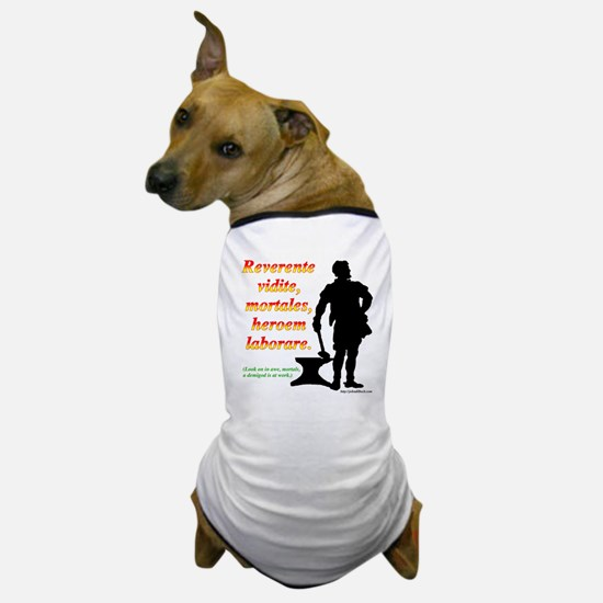 Look on in awe, mortals Dog T-Shirt