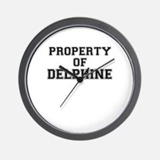 Property of DELPHINE Wall Clock