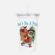 Naughty Christmas hedg Acrylic Double-wall Tumbler