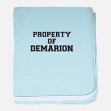 Property of DEMARION baby blanket