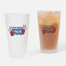 Groped by Trump Drinking Glass