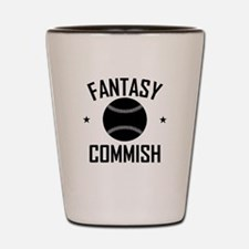 Fantasy Baseball Commish Shot Glass