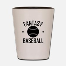 Fantasy Baseball Shot Glass