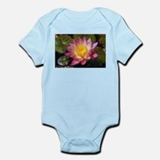 Lovely Pink Water Lily Body Suit