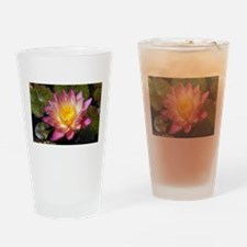 Lovely Pink Water Lily Drinking Glass