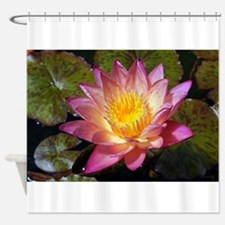 Lovely Pink Water Lily Shower Curtain