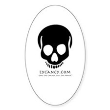 Lycancy - Symbol Ghost Oval Decal
