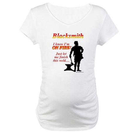 I know I am on fire Maternity T-Shirt