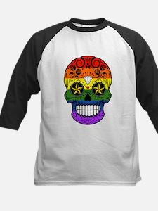 Gay Pride Rainbow Flag Sugar Skull with Roses Base