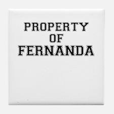 Property of FERNANDA Tile Coaster
