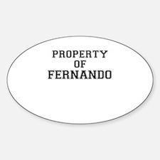 Property of FERNANDO Decal