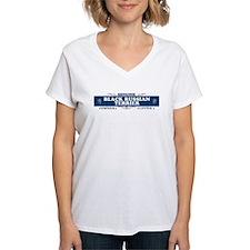 BLACK RUSSIAN TERRIER Womens V-Neck T-Shirt