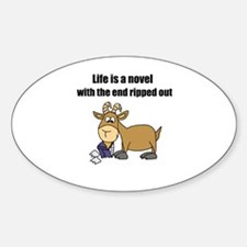 Unique Cartoon goat Sticker (Oval)