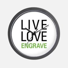 Live Love Engrave Wall Clock