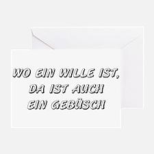 Wo ein Wille ist... (black) Greeting Card