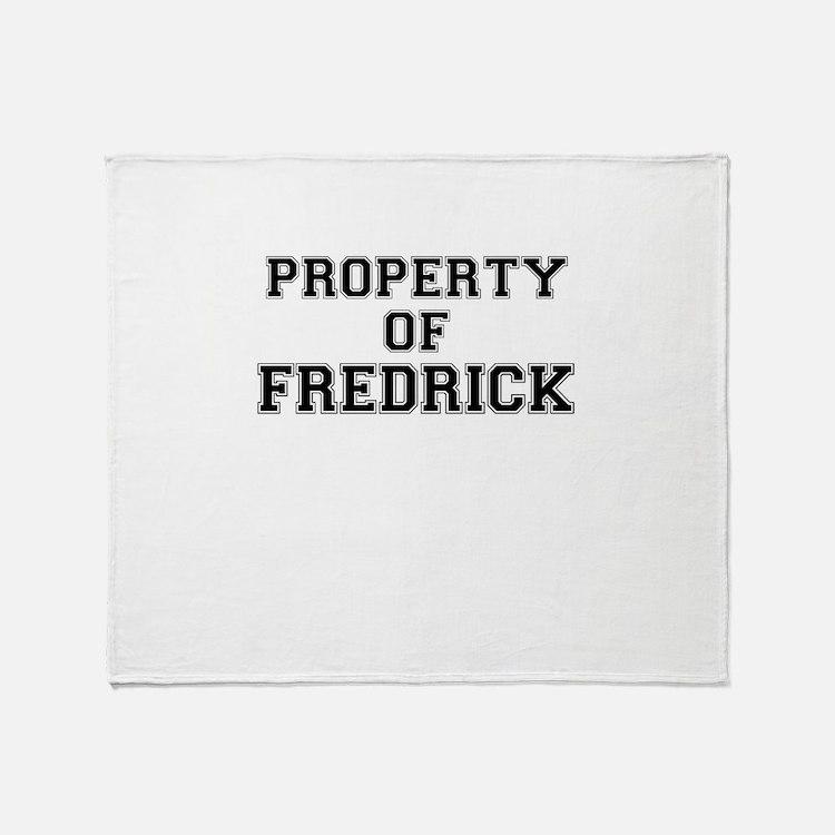 Property of FREDRICK Throw Blanket