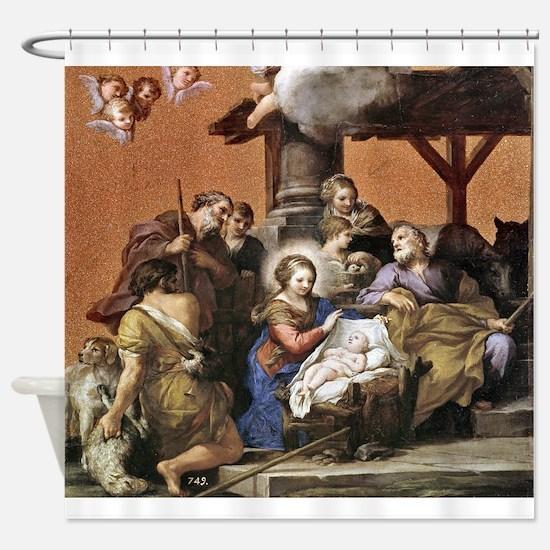 Nativity by Pietro da Cortona Shower Curtain