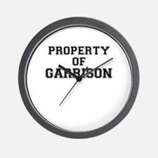 Property of GARRISON Wall Clock